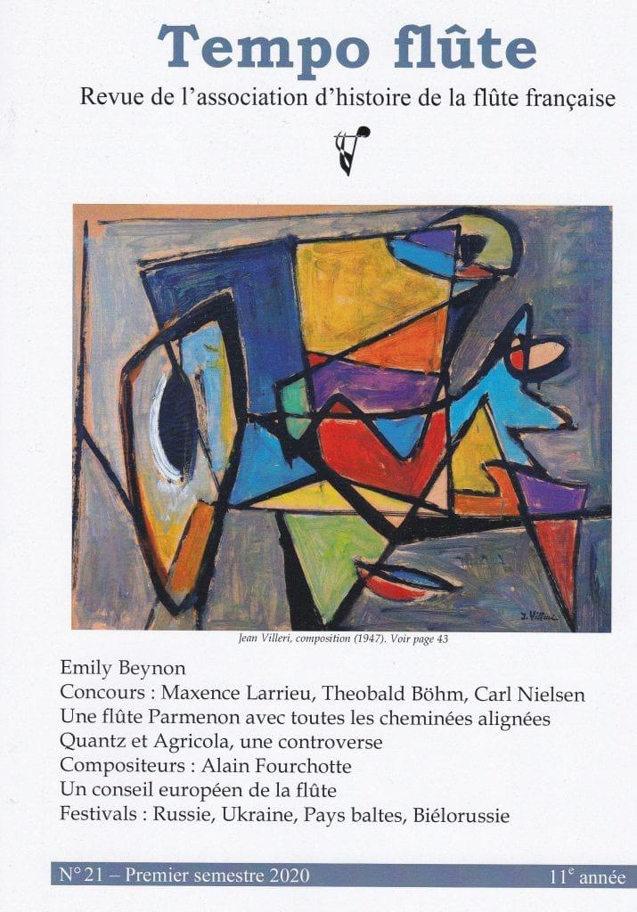 Tempo flûte, n° 21 (Premier semestre 2020) - Revue - laflutedepan.com