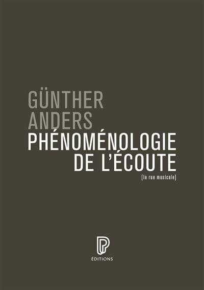 Günther ANDERS - Phénoménologie de l'écoute - Livre - di-arezzo.fr