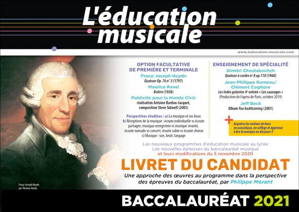 L'éducation musicale - Livret du candidat - Baccalauréat 2021 - laflutedepan.com