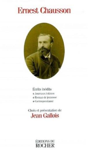 Écrits inédits - CHAUSSON - Livre - Les Hommes - laflutedepan.com