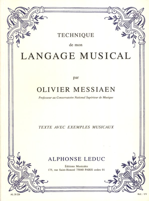Olivier MESSIAEN - Technique of my musical language - Livre - di-arezzo.co.uk