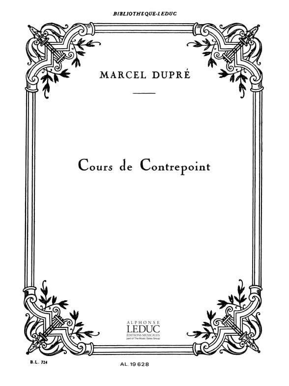 Marcel DUPRÉ - Cours de contrepoint - Livre - di-arezzo.fr