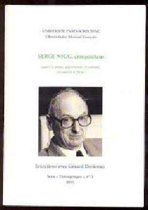 Serge Nigg, compositeur - Gérard DENIZEAU - Livre - laflutedepan.com