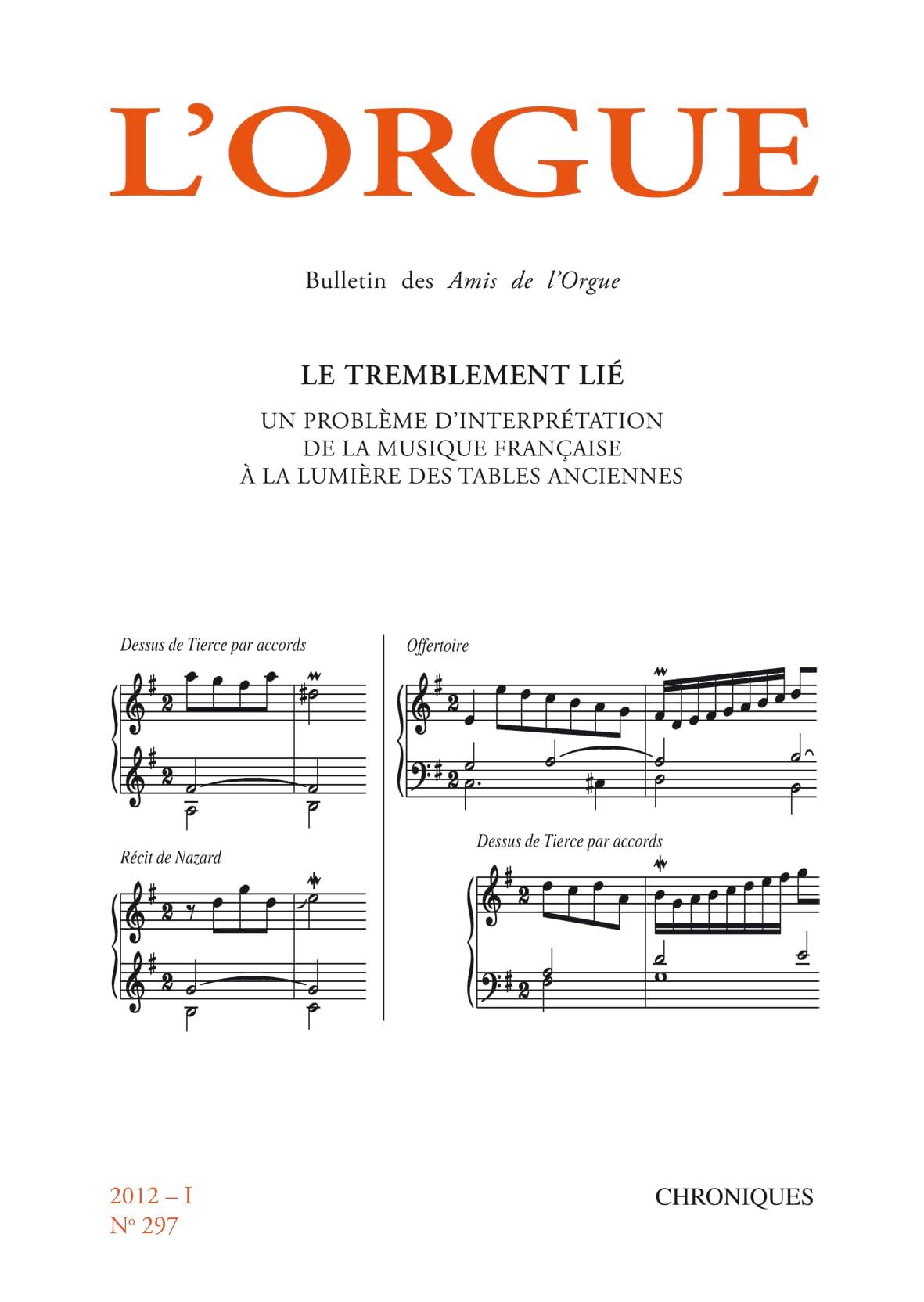 Revue - The organ, n ° 297 (2012 / I) - Livre - di-arezzo.com