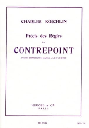 Charles KOECHLIN - Accurate rules of counterpoint - Livre - di-arezzo.com