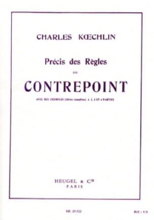 Charles KOECHLIN - Précis des règles du contrepoint - Livre - di-arezzo.fr