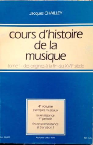 Cours d'histoire de la musique : Tome 1 vol. 4 - laflutedepan.com