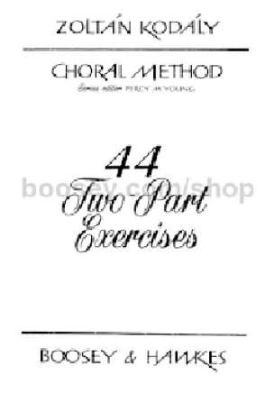 44 two part exercices - KODALY - Livre - laflutedepan.com