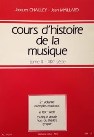 Cours d'histoire de la musique : Tome 3 vol. 2 - laflutedepan.com