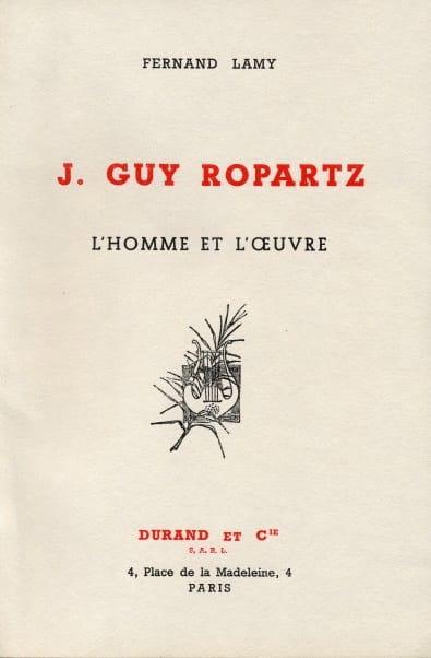J. Guy Ropartz : l'homme et l'oeuvre - Fernand LAMY - laflutedepan.com