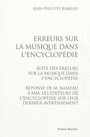 Erreurs sur la musique dans l'Encyclopédie - RAMEAU - laflutedepan.com