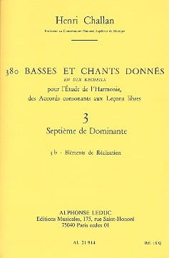 Henri CHALLAN - 380 basses and songs given, vol. 3B: Seventh of dominant - Livre - di-arezzo.co.uk