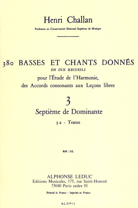 Henri CHALLAN - 380 BASSES AND SONGS GIVEN, vol 3A: texts - Livre - di-arezzo.com