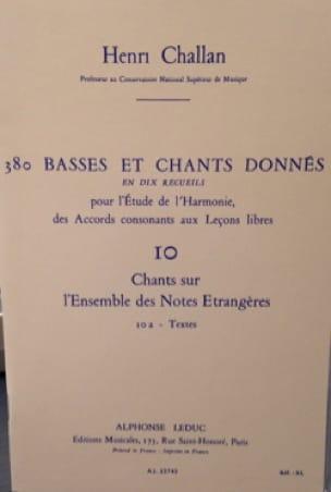 380 BASSES ET CHANTS DONNES, vol 10A: textes - laflutedepan.com