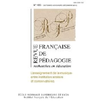 revue française de pédagogie n° 185: l'enseignement de la musique - laflutedepan.com