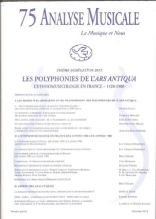 Analyse Musicale n° 75: Agrégation 2015 - Revue - laflutedepan.com