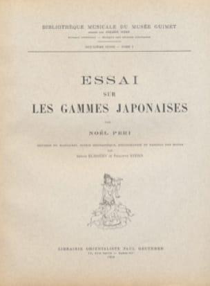 Essai sur les gammes japonaises - Noël PERI - Livre - laflutedepan.com