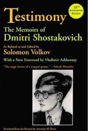 Testimony : memoirs - Dmitri SHOSTAKOVICH - Livre - laflutedepan.com