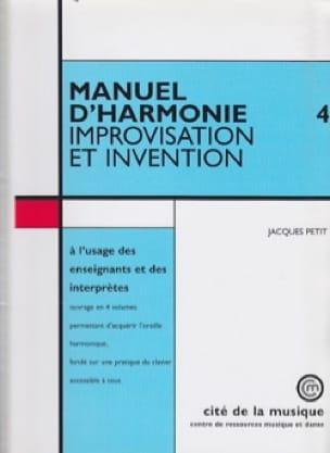 Manuel d'harmonie, vol. 4 : Improvisation et invention - laflutedepan.com