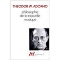 Philosophie de la nouvelle musique Theodor ADORNO laflutedepan.com