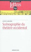 Scénographie du théâtre occidental Anne SURGERS Livre laflutedepan.com