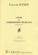 Cours de composition musicale, vol. 3 Vincent D'INDY laflutedepan.com