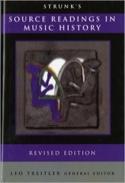 Source readings in music history Oliver STRUNK Livre laflutedepan.com