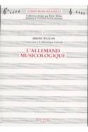 L'Allemand musicologique Simone WALLON Livre laflutedepan.com