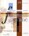 Filigrane, n° 3 : La société dans l'écriture musicale - laflutedepan.com