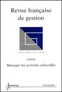 Revue française de gestion - Dossier : manager les activités culturelles laflutedepan.com