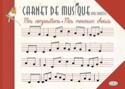 Carnet de musique avec portées CARNET Livre laflutedepan.com