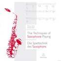 The Techniques of Saxophone Playing (Livre en anglais - allemand) laflutedepan.be