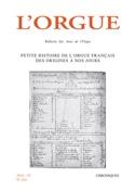 L'Orgue, n° 316 (2016 - IV) Revue Livre laflutedepan.com