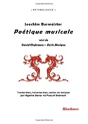 Poétique musicale Joachim BURMEISTER Livre laflutedepan.com