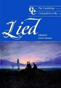 The Cambridge companion to the Lied PARSONS James ed. laflutedepan.com