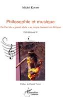 Philosophie et musique - Michel KOUAM - Livre - laflutedepan.com