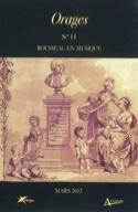 Orages, n° 11 Rousseau en musique Livre laflutedepan.com