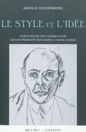 Le style et l'idée Arnold SCHOENBERG Livre laflutedepan.com