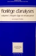 Florilège d'analyses, vol. 1 : Moyen-Âge et Renaissance - laflutedepan.com