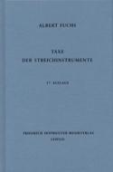Taxe der Streichinstrumente, 17. Auflage Albert FUCHS laflutedepan.com