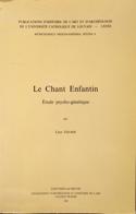 Le Chant Enfantin Lucy Gelber Livre laflutedepan.com