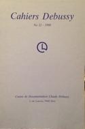 Cahiers Debussy, n° 22 Collectif Livre Les Hommes - laflutedepan.com