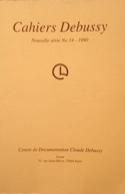 Cahiers Debussy, n° 14 Collectif Livre Les Hommes - laflutedepan.com