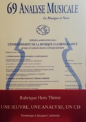Analyse musicale n° 69 Revue Livre Analyse musicale - laflutedepan.com