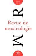 Revue de musicologie, Tome 95/1 (2009) Revue Livre laflutedepan.com