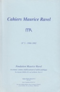 Cahiers Maurice Ravel, n° 5 (1990-1992) Revue Livre laflutedepan.com