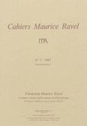 Cahiers Maurice Ravel, n° 1 (1985) - Revue - Livre - laflutedepan.com