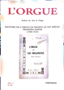 L'Orgue, n° 301 (2013/I) Revue Livre Revues - laflutedepan.com