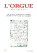 L'orgue, n° 257 (2002/I) - Revue - Livre - Revues - laflutedepan.com
