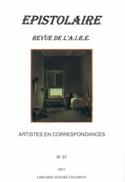 Epistolaire n° 37 - Artistes en correspondances Revue laflutedepan.com